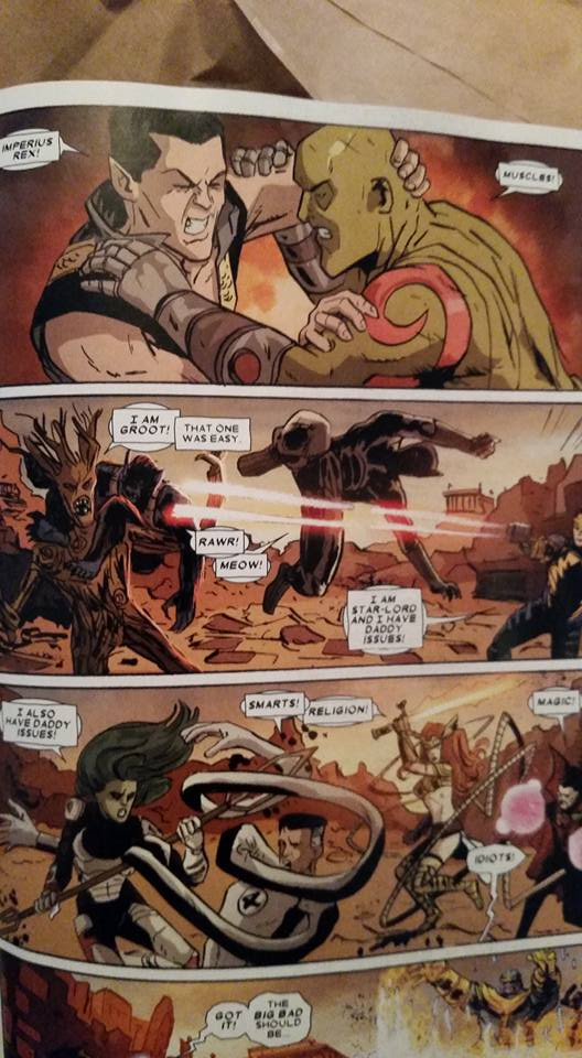 """My favorite panel from """"What If? Infinity- Guardians of the Galaxy (2015) #1"""""""